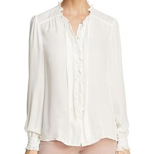 PAIGE | Honor Silk Ruffle Button Front Blouse